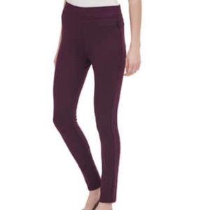 DKNY Ponte Legging Pants DonnaKaren NY Jeans Plum